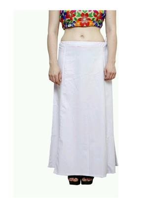 Trackdeal Tdpt1066 White Women Peticoat