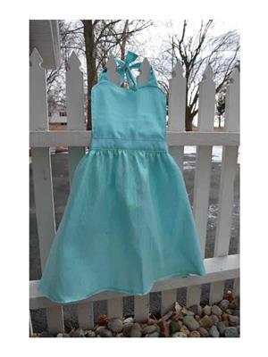 My Gift Booth Tk40 Turq Dress Apron
