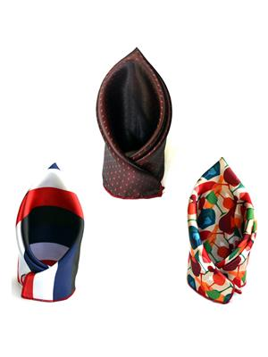 Urban Diseno Ud9936 Multicolored Men Pocket Square Set Of 3