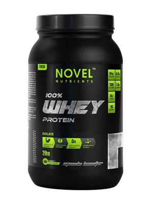 Novel Nutrients WHEY PROTEIN ISOLATE 100% 2 Lb Muscle Booster Flavour Chocolate