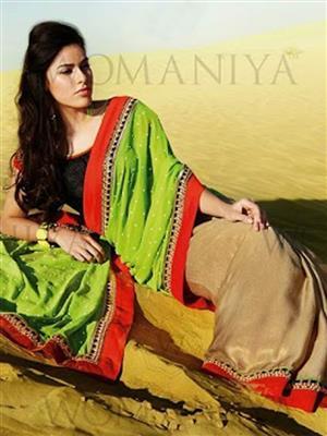 Womaniya  7013 Green Saree