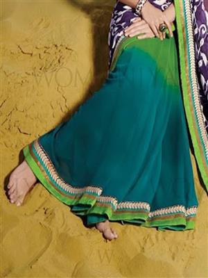 Womaniya  7006 Green Saree