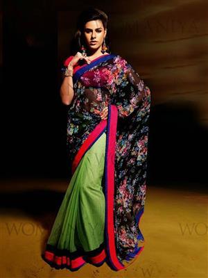 Womaniya  7008 Green Saree