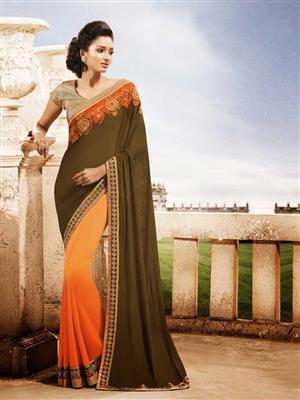 Womaniya_ 9005 Orange Saree