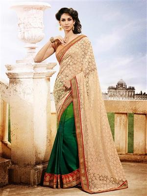 Womaniya  9006 Green Saree