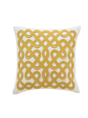Decorize y1 Yellow  Printed Cushion