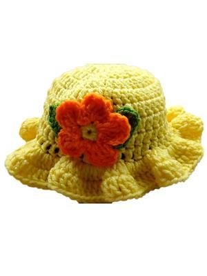 Love Crochet Art Yellow Cap